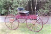 Vintage horse buggy from late 1800's: steel rims, single and team shafts included.  Fully restored.